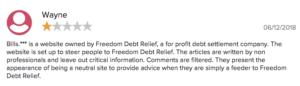 bills llc freedom debt relief scam