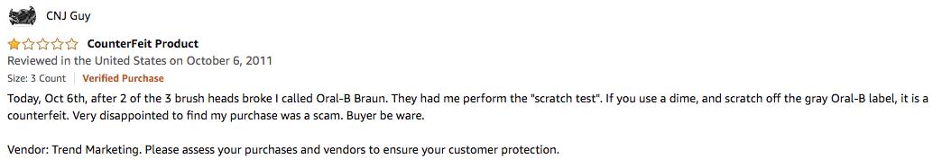 amazon counterfeit reviews online