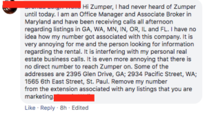 zumper fake listings scams