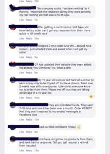 fishing care package facebook complaints