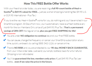 heal n soothe free bottle offer